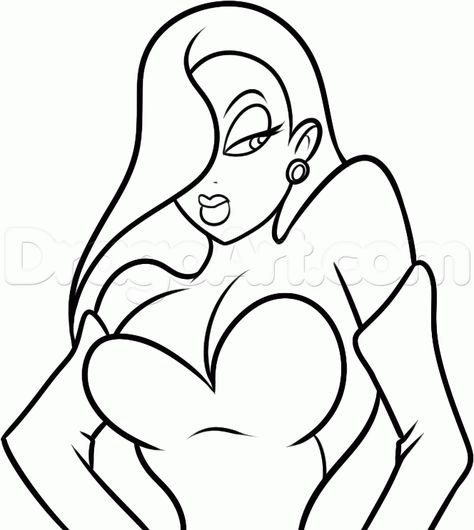 Jessica Rabbit coloring pages Svg files Pinterest Jessica - copy coloring book pages of rabbits