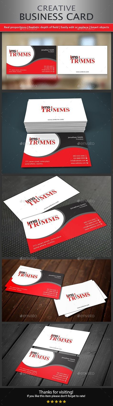 Creative Business Card | Business cards, Card templates and Simple ...