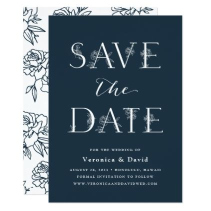 Secret Garden Save The Date Card  Weddings