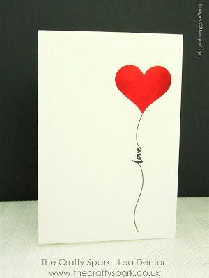 the crafty spark super simple speedy cards 3 valentines day stampin up - Valentine Cards Pinterest