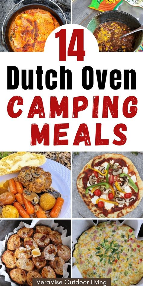 Looking for easy and yummy meal ideas to do for your next camping meal? You don't have to beat yourself up doing over complicated recipes. Here are 14 Dutch oven camping meal ideas that are super easy to make and will knock your socks off!