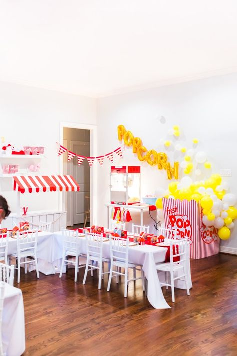 Welcome to the greatest birthday on earth! Luke turned two and celebrated by having a carnival / circus party! DIY ideas and more! Carnival Birthday Parties, Circus Birthday, Birthday Party Games, Birthday Party Decorations, Party Themes, Popcorn Decorations, Party Ideas, Birthday Ideas, Diy Ideas