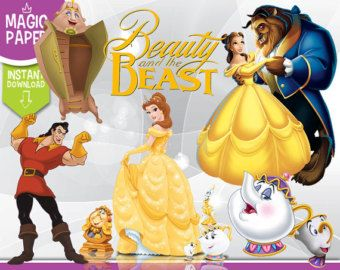 Beauty And The Beast Clipart Digital 300 Dpi Png Images Photos Scrapbook D Beauty And The Beast Silhouette Beauty And The Beast Beauty And The Beast Party