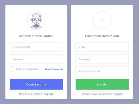Sign In Form Freebie Website Sign Up Mobile Login Signs