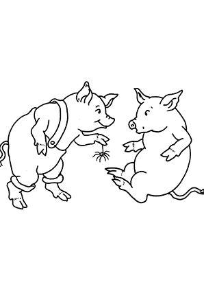 Ausmalbild Schweine Schenken Sich Was Zum Kostenlosen Ausdrucken Und Ausmalen Fur Kinder Ausmalbilder Malvorlage Ausmalbilder Tiere Ausmalen Ausmalbilder