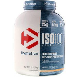Dymatize Nutrition Iso 100 Hydrolyzed 100 Whey Protein Isolate Orange Dreamsicle 5 Lbs 2 3 Kg Iherb In 2020 Isolate Protein Whey Protein Whey Protein Isolate