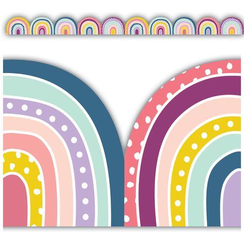 Oh Happy Day Rainbows Die-Cut Border Trim