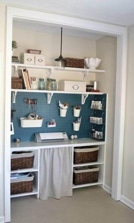 Best Craft Room Pegboard Ideas Apartment Therapy Pegboar Nahzimmer Speicher Schreibtische Fur Kleine Raume Hobby Bastelraum