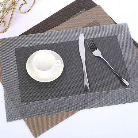 Cuh 5pcs Dining Table Pad Pvc Western Food Insulation Mats Kitchen
