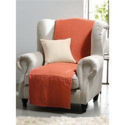 Überwurf für Couch und Bett ca. 160x270cm Peter Hahn orange Peter HahnPeter Hahn