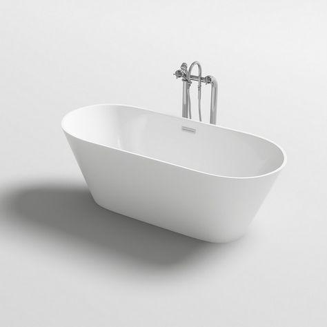 Vasca da bagno freestanding 170x80 160x80 150x75 stile ...