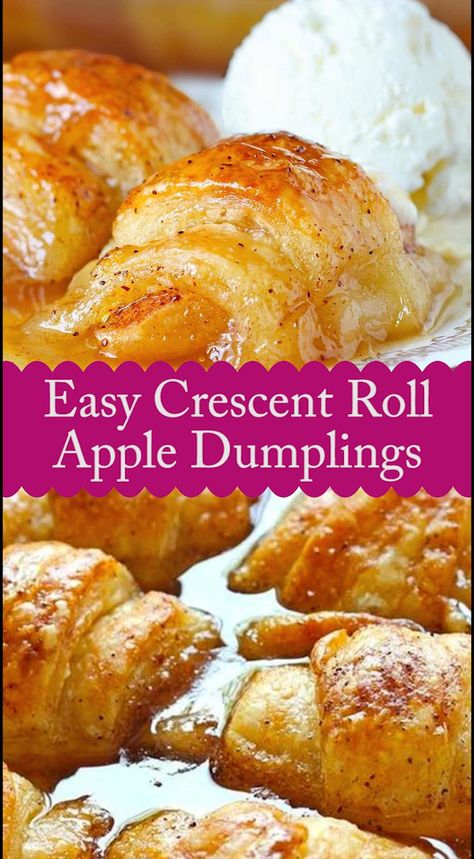 Easy Crescent Roll Apple Dumplings