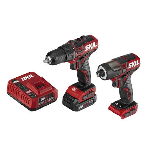 Skil Pwrcore 12 2 Tool 12 Volt Brushless Power Tool Combo Kit Charger Included And 1 Batteries Included Cb742901 In 2020 Drill Driver Cordless Drill Impact Driver
