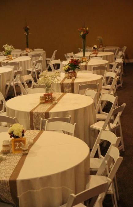 Wedding Reception Centerpieces For Round Tables Simple 64 Ideas Rustic Burlap Wedding Burlap Wedding Decorations Burlap Table Decorations
