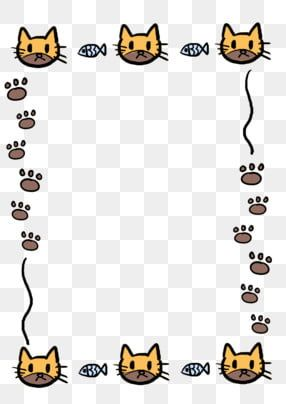 Cute Kitten Cat Footprints Border Cat Clipart Cartoon Kitten Border Cute Cat Footprints Border Png Transparent Clipart Image And Psd File For Free Download Kitten Cartoon Cat Footprint Cat Clipart