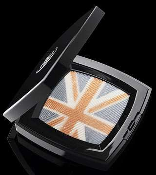 Chanel Madness Collection: Union Jack Flag Eyeshadow...the colors blended make a light purplish tone..great for brown eyes!