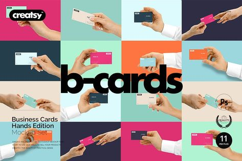 Business Cards Mockup Hands Edition