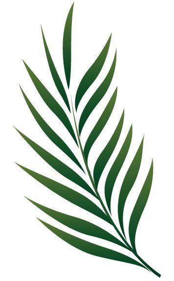 Stickdatei Palmenblatt