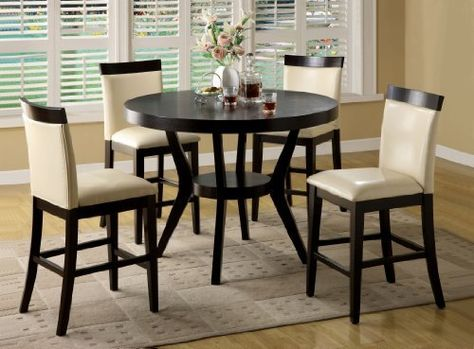 Furniture Of America Galore 5 Piece Counter Height Dining Set