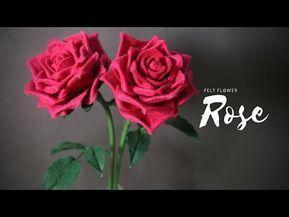 Felt Flower Rose 2 Cara Membuat Bunga Mawar Dari Kain Flanel Youtube Felt Roses Felt Flowers Felt Crafts Diy