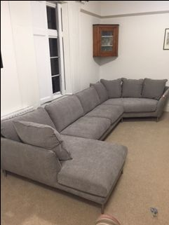Chaise Lounge Left With 3 Seat Sectional Without Arms And Cozy Corner Right Covered In J Brown Porto W Corner Sectional Sofa Corner Sofa Brown Corner Sofas
