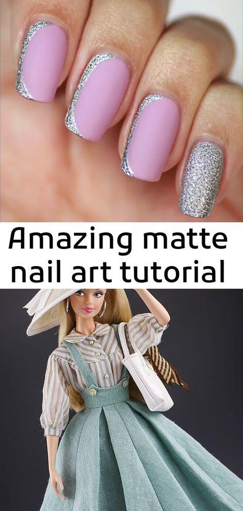 Amazing matte nail art tutorial