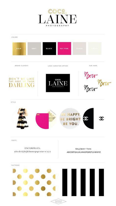 High Fashion Logo + Website Design :: CocoLaine Photography