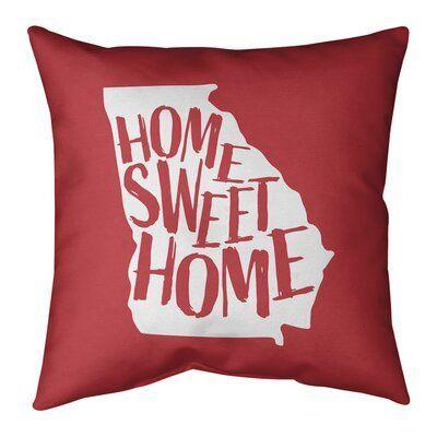 East Urban Home Home Sweet Indoor Outdoor Throw Pillow Wayfair East Urban Home Home Sweet Indoor Outdoor Th In 2020 Throw Pillows Outdoor Throw Pillows Sweet Home