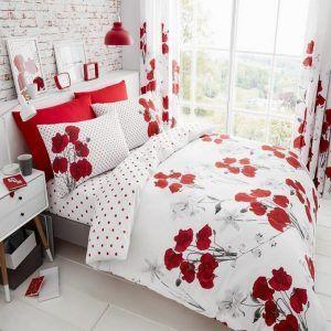 Poppy Red Duvet Cover Red Duvet Red Duvet Cover Bed Linens Luxury