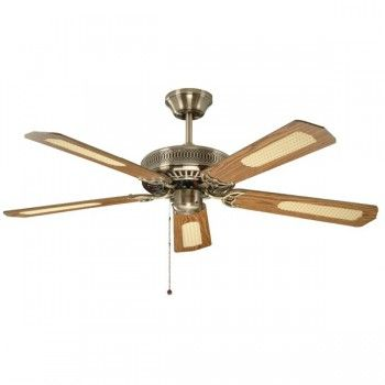 Fantasia Classic 52 Inch Pull Cord Antique Brass Ceiling Fan With