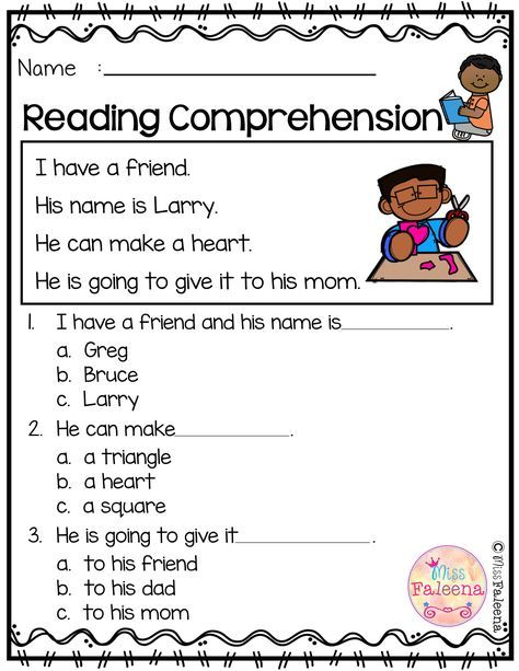 Free Reading Comprehension Reading Comprehension Kindergarten Reading Comprehension Kindergarten Reading Reading worksheets for beginners