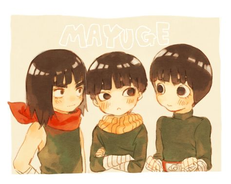 Maito Guy, Metal Lee, and Rock Lee || This is just adorable.