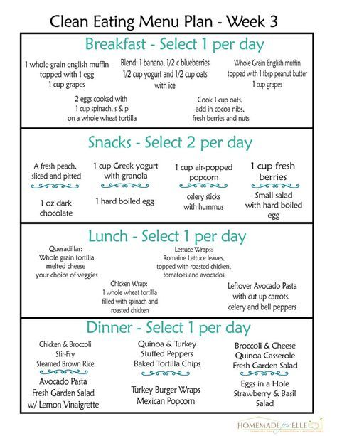 weight loss meal plan for 2 weeks