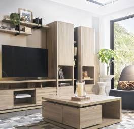 Composition Tv 1 Meubles Tv Meubles Gautier En 2020 Meubles Gautier Mobilier De Salon Meuble Tv
