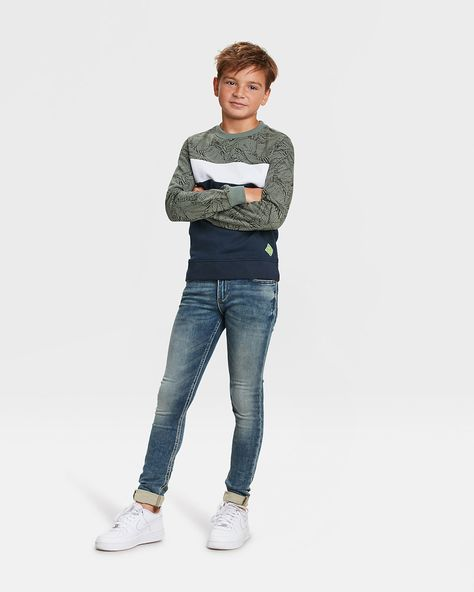 WE Fashion Jeans 'Simon Salt' Jungen, Blau, Größe 152