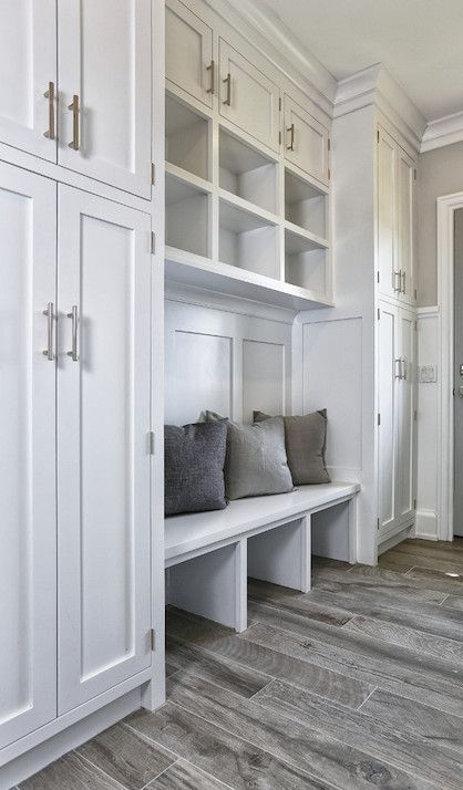 Amazing Mudroom Has A Secret Door For Storage In 2020 Small Mudroom Ideas Mudroom Cubbies Laundry Mud Room