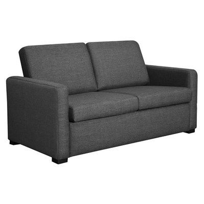 Fine Earvin Linen Fabric Pull Out Sofa Bed Double Charcoal For Evergreenethics Interior Chair Design Evergreenethicsorg
