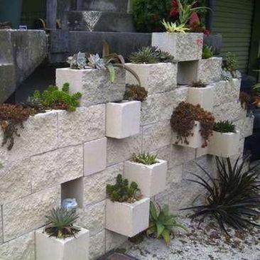 42 Amazing Diy Project Garden Cinder Block Ideas Decoona Vertical Garden Diy Vertical Garden Vertical Vegetable Garden