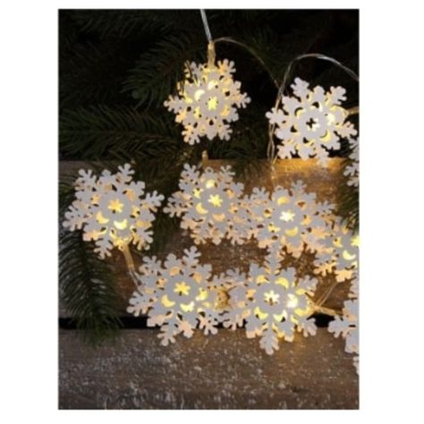 10 Led Metal Snowflake Fairy Lights With Timer 1 135 Liked On Polyvore Featuring Home Lighting Battery Ed