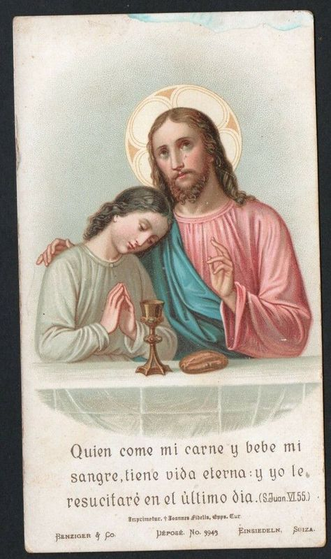Holy card antique de Jesus estampa santino image pieuse andachtsbild