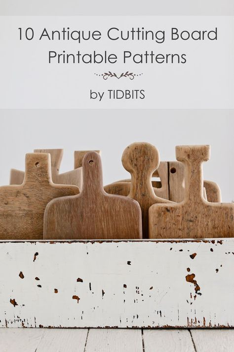 Print your favorite shapes for free and learn how to make an antique cutting board. - Diy Home Crafts Custom Woodworking, Woodworking Projects Plans, Teds Woodworking, Carpentry Projects, Woodworking Patterns, Woodworking Workshop, Diy Cutting Board, Wood Cutting Boards, Chopping Boards