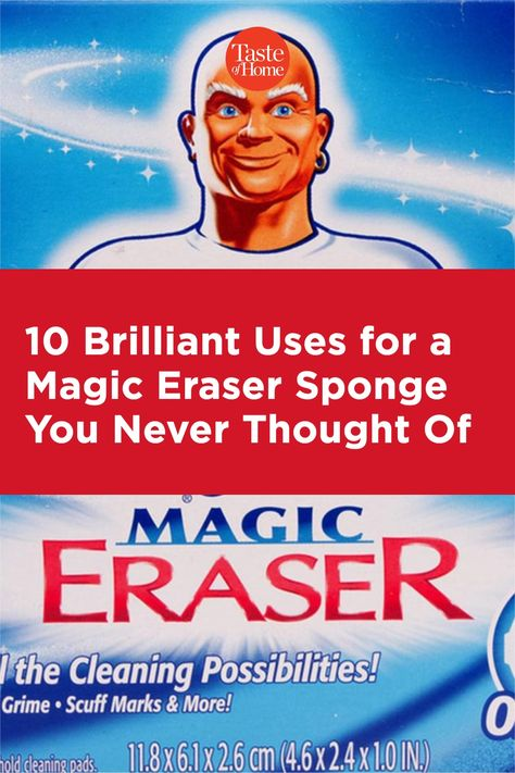 The magic eraser works on even the toughest cleaning jobs. Check out these 10 clever ways to use a Magic Eraser sponge.