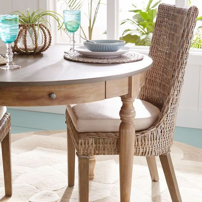 Cantik Gray Wicker Dining Chair Pier 1 Imports Wicker Dining Chairs Round Table And Chairs Dining Chairs