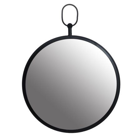 Black Round Wall Mirror With Decorative Handle Walmart Com