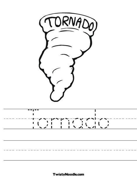 *Weather Worksheets*   Tornado Worksheet from TwistyNoodle.com