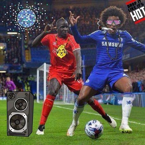 Śmieszne memy w piłce nożnej • Willian w okularach i z papierosem • Mamadou Sakho z Willianem tańczą w rytmie disco • Zobacz więcej >>