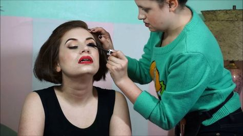 Pinup Makeover Makeup By Lacey Noel / Miss Missy Photography #MakeupByLaceyNoel #MissMissyPhotography #Pinup #PinupMakeup pinup makeover