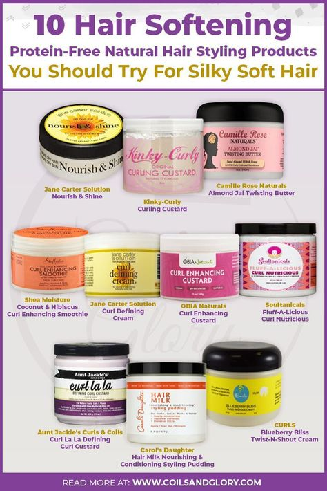 10 Protein-Free Styling Products For Low Porosity Natural Hair | Coils and Glory