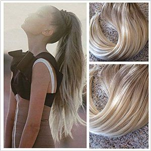 Sunny 22 Zoll 55cm Ombre Ash Braun Zu Bleach Blond 100 Remy Clip In Extensions Echthaar Vollkopf Ha Echthaar Extensions Frisuren Mit Haarverlangerung Echthaar