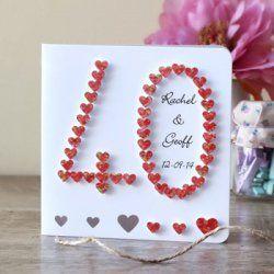 40 Hochzeitstag Geschenk Rubinhochzeit Gluckwunsche Zum 40